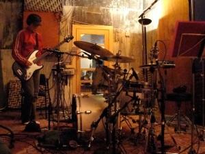 Chrissie at Trident studios recording fro Transit album