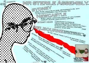 mr sterile Assembly Australian tour poster April 2011