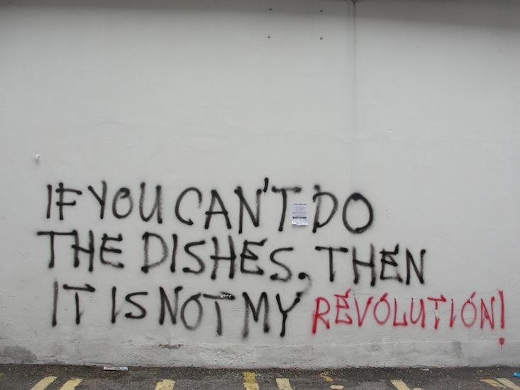 Graffiti seen on the Saturday