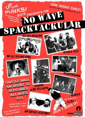Up The Punks Poster, Wellington 2012