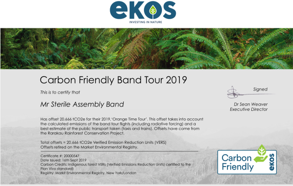 Carbon Friendly Band Tour - Mr Sterile Assembly Band September 2019 20000547